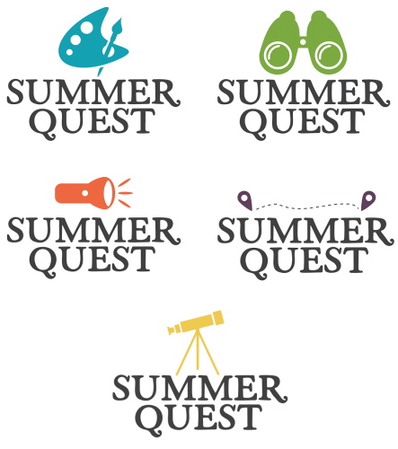 Logos for Commonwealth Libraries Summer Quest Program
