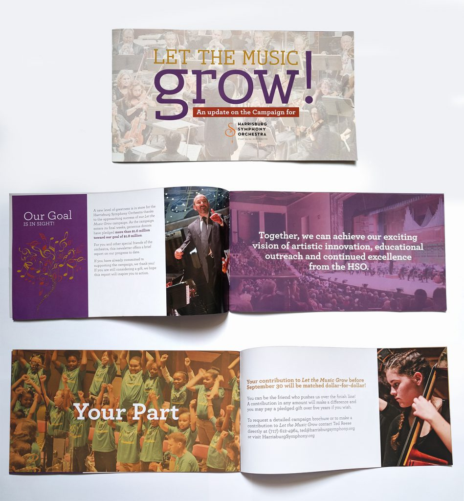 Harrisburg Symphony Orchestra's Campaign Update brochure