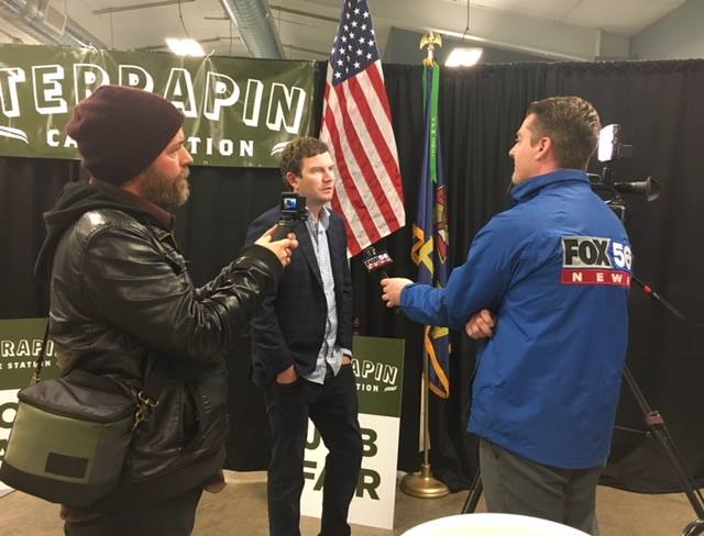 Terrapin CEO Chris Woods gives interview to Fox 56 News.
