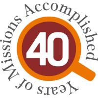 40th-anniversary logo saying: 40 Years of Missions Accomplished.